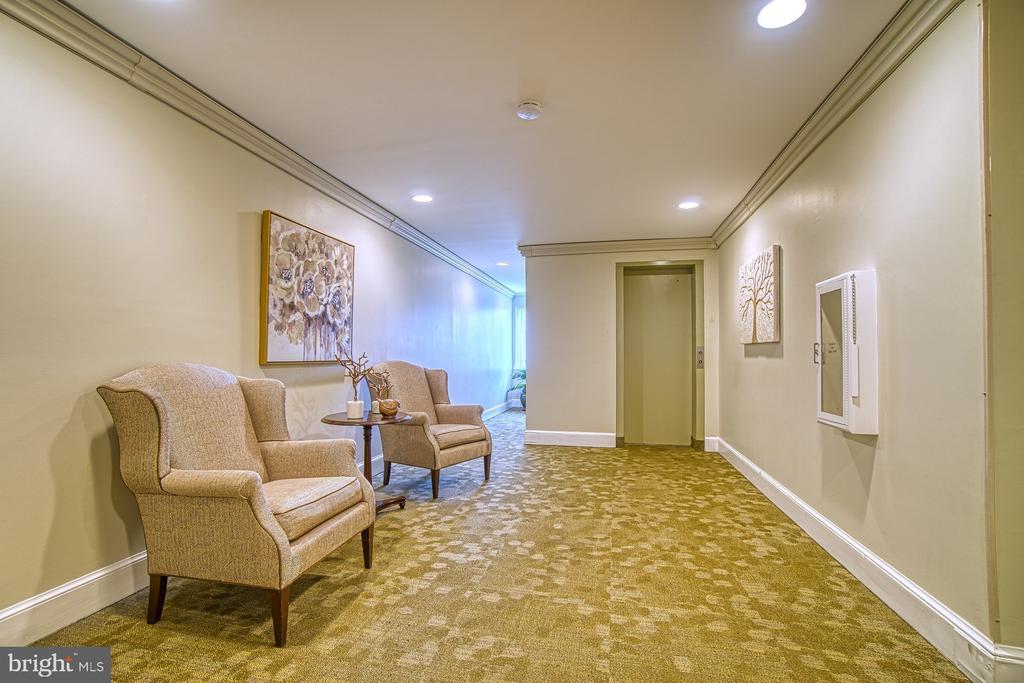 2nd Floor Lobby / Elevator area - 10300 BUSHMAN DR #210, OAKTON