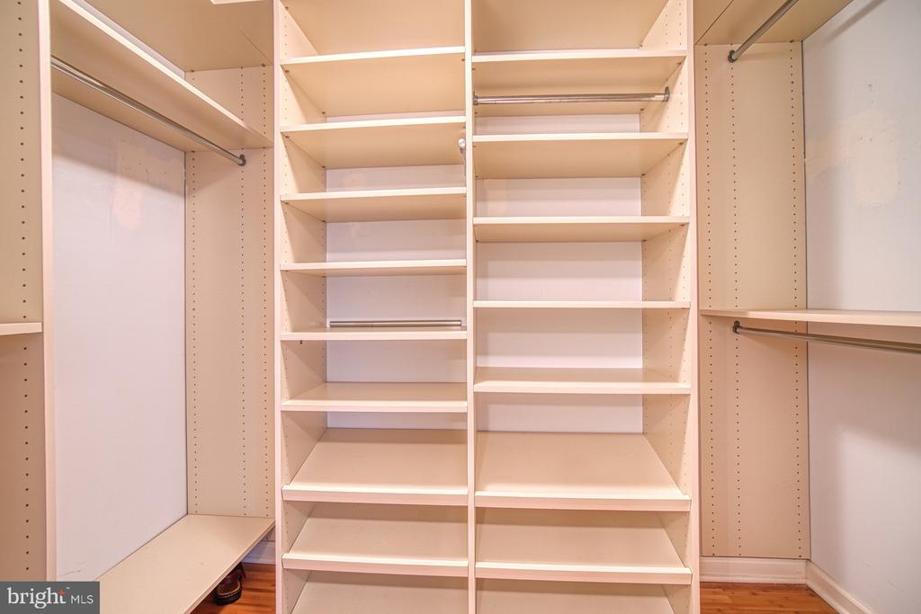 Huge Walk-In Master Closet w/ Custom Closet System - 10300 BUSHMAN DR #210, OAKTON