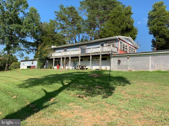 Main house from creek - 9714 BRENTSVILLE RD, MANASSAS