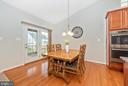 Sunny Dining Area has vaulted ceilings! - 5944 DUVEL ST, IJAMSVILLE