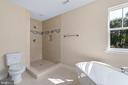 Separate shower and tub in Master Bath - 173 WHITE OAK ROAD, FREDERICKSBURG