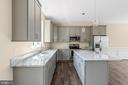 Gray kitchen with quartz tops - 173 WHITE OAK ROAD, FREDERICKSBURG
