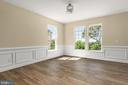 Dining Room with shadowboxes, two-tone color paint - 173 WHITE OAK ROAD, FREDERICKSBURG