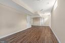 Basement/ entertainment room - 173 WHITE OAK ROAD, FREDERICKSBURG