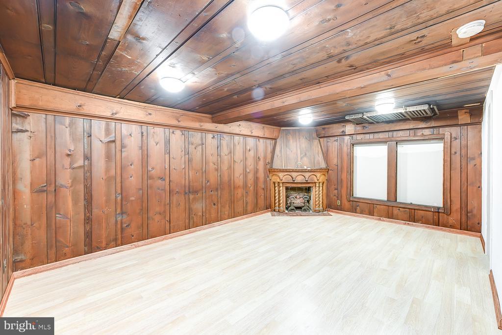 Finished Basement with Fireplace - 1732 HOBART ST NW, WASHINGTON