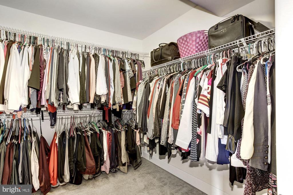 Master closet - 16684 DANRIDGE MANOR DR, WOODBRIDGE