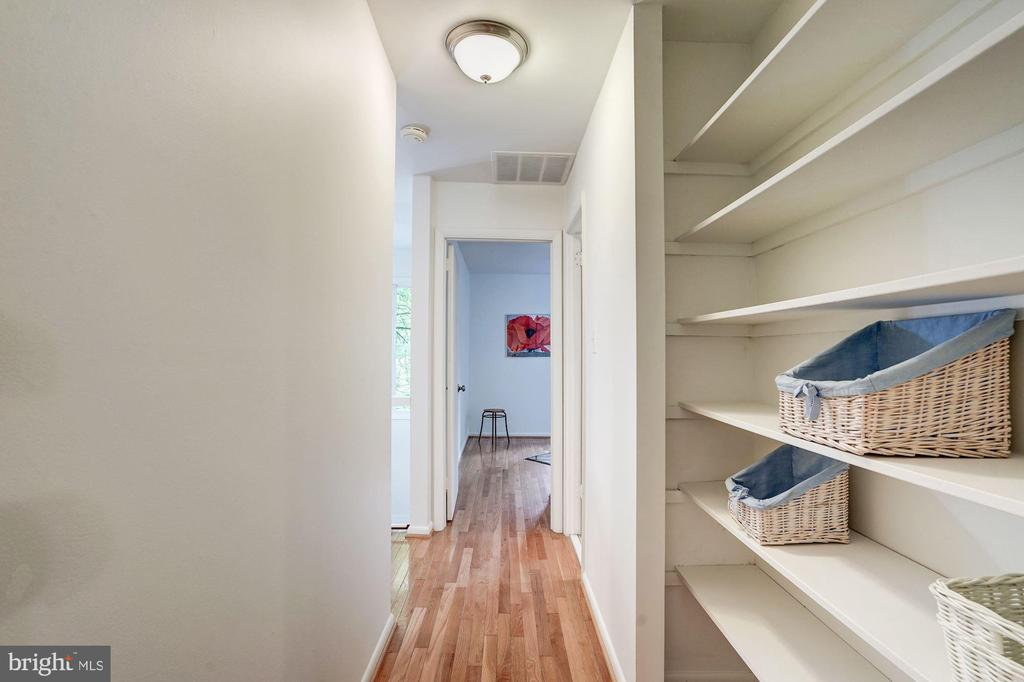 Hallway with Builtin Shelving - 12387 COPENHAGEN CT, RESTON