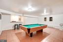 Lower Level Rec Room - 12387 COPENHAGEN CT, RESTON