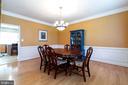 Elegant dining room - 212 WOOD LANDING RD, FREDERICKSBURG