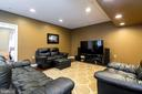 Relax in the basement rec room - 212 WOOD LANDING RD, FREDERICKSBURG