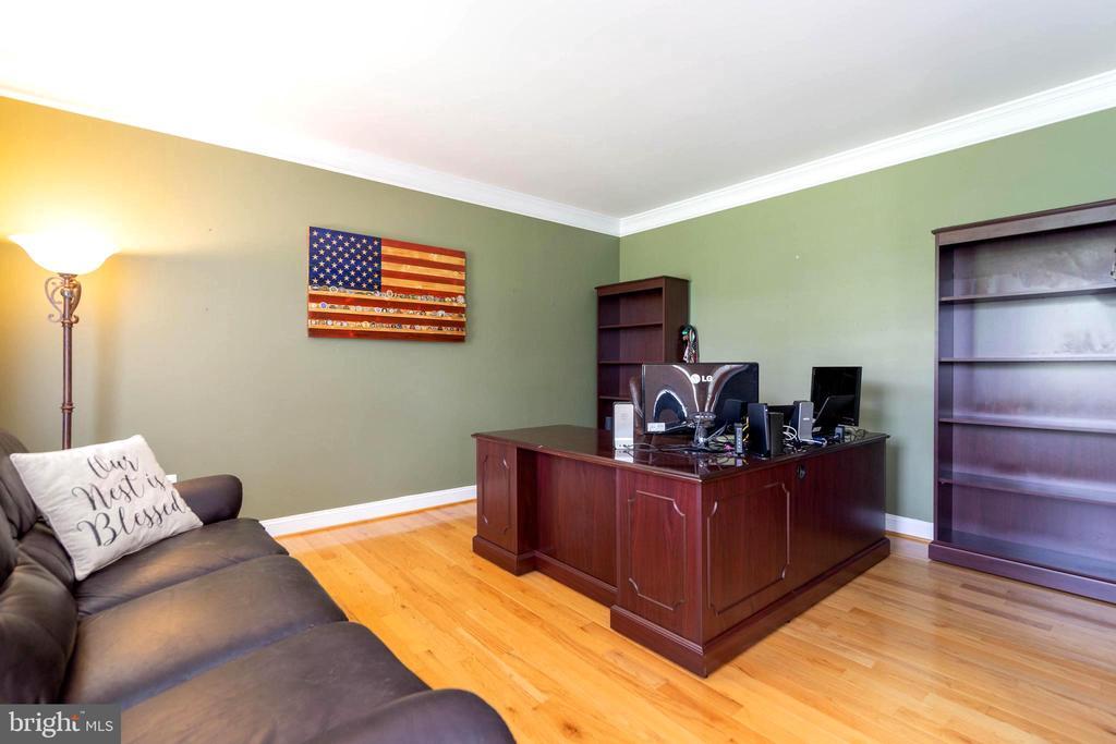 Living room set-up as office - 212 WOOD LANDING RD, FREDERICKSBURG
