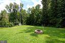 Enjoy the privacy of this large flat yard! - 212 WOOD LANDING RD, FREDERICKSBURG