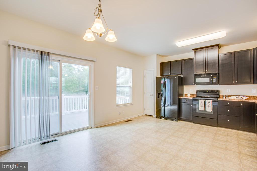 Slider lets in lots of light and a view to woods - 4540 ALLIANCE WAY, FREDERICKSBURG