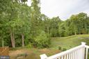 Expansive view to common area and woods. - 4540 ALLIANCE WAY, FREDERICKSBURG