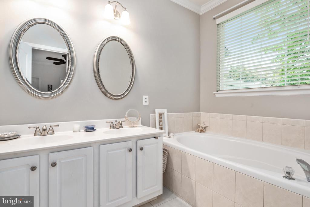 Master Bath with soaking tub and separate shower - 43718 MIDDLEBROOK TER, ASHBURN