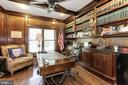 Large office/library with custom cabinetry - 14608 CROSSWAY RD, ROCKVILLE