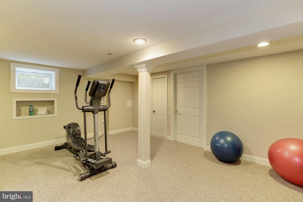 Lower level exercise room off of large rec room - 14608 CROSSWAY RD, ROCKVILLE