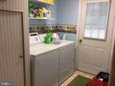 Cute laundry room in lower level - 16 LORD FAIRFAX DR, FREDERICKSBURG