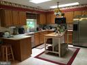 Kitchen with 2 skylights - 16 LORD FAIRFAX DR, FREDERICKSBURG