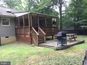 Back view of the covered deck - 16 LORD FAIRFAX DR, FREDERICKSBURG