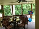 Covered deck with ceiling fan - 16 LORD FAIRFAX DR, FREDERICKSBURG