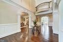 Stunning and spacious foyer - 1353 WOODSIDE DR, MCLEAN