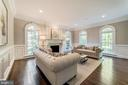 Living Room with wainscoting - 1353 WOODSIDE DR, MCLEAN