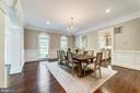 Spacious formal Dining Room with lots of light - 1353 WOODSIDE DR, MCLEAN