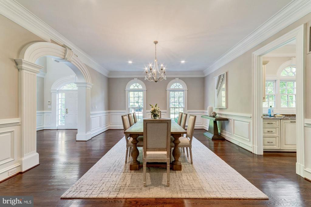 Formal Dining Room with wainscoting - 1353 WOODSIDE DR, MCLEAN