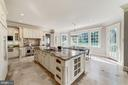 Kitchen with large island and breakfast bar - 1353 WOODSIDE DR, MCLEAN