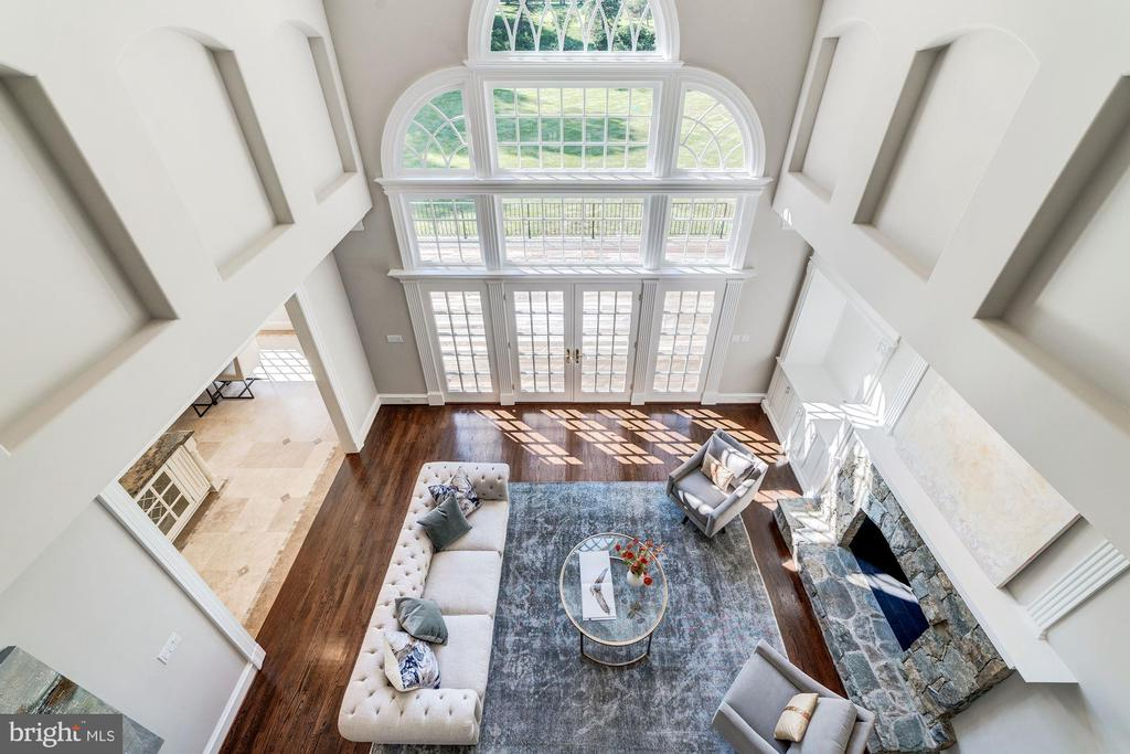 2 story family room from overlook - 1353 WOODSIDE DR, MCLEAN