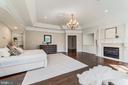 Master bedroom with fireplace - 1353 WOODSIDE DR, MCLEAN