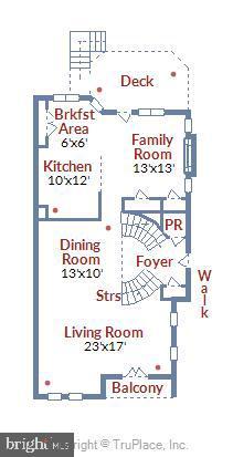 Main level floorplan - 8158 BOSS ST, VIENNA