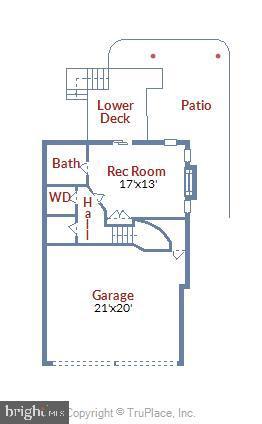 Garage level floorplan - 8158 BOSS ST, VIENNA