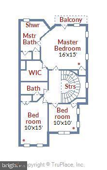 Upper level floorplan - 8158 BOSS ST, VIENNA