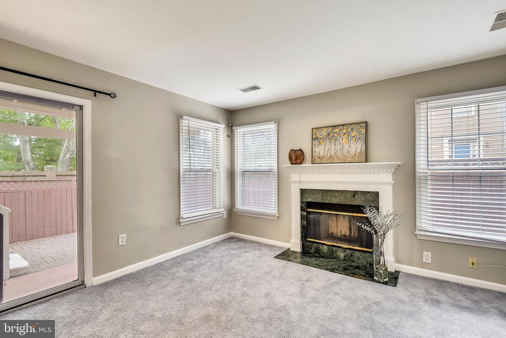 2nd gas fireplace in rec room on lower level. - 8158 BOSS ST, VIENNA
