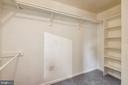 Master bedroom walk-in closet - 8158 BOSS ST, VIENNA
