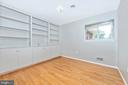 3rd Bedroom has nice built-ins. - 610 SCHLEY AVE, FREDERICK