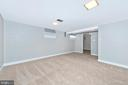 Newly carpeted lower level Family Room - 610 SCHLEY AVE, FREDERICK