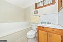 Full lower level bath with elevated tub. - 610 SCHLEY AVE, FREDERICK