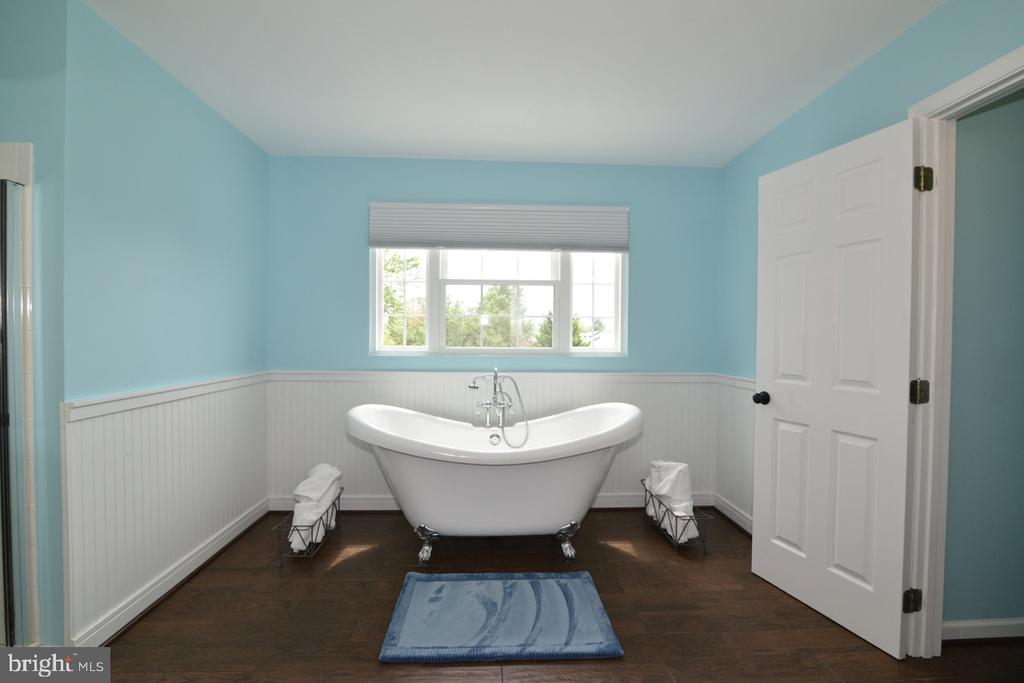 Stunning master bathroom, straight from a magazine - 1308 FEATHERSTONE LN NE, LEESBURG