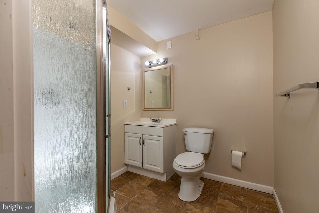 Full bath in basement - 42476 MANDOLIN ST, CHANTILLY