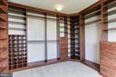 Custom Master Closet Built Ins - 20141 BLACKWOLF RUN PL, ASHBURN