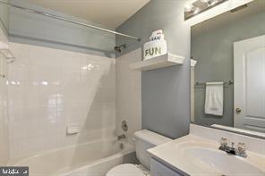 Upper Level Hall Bath - 12023 EDGEMERE CIR, RESTON