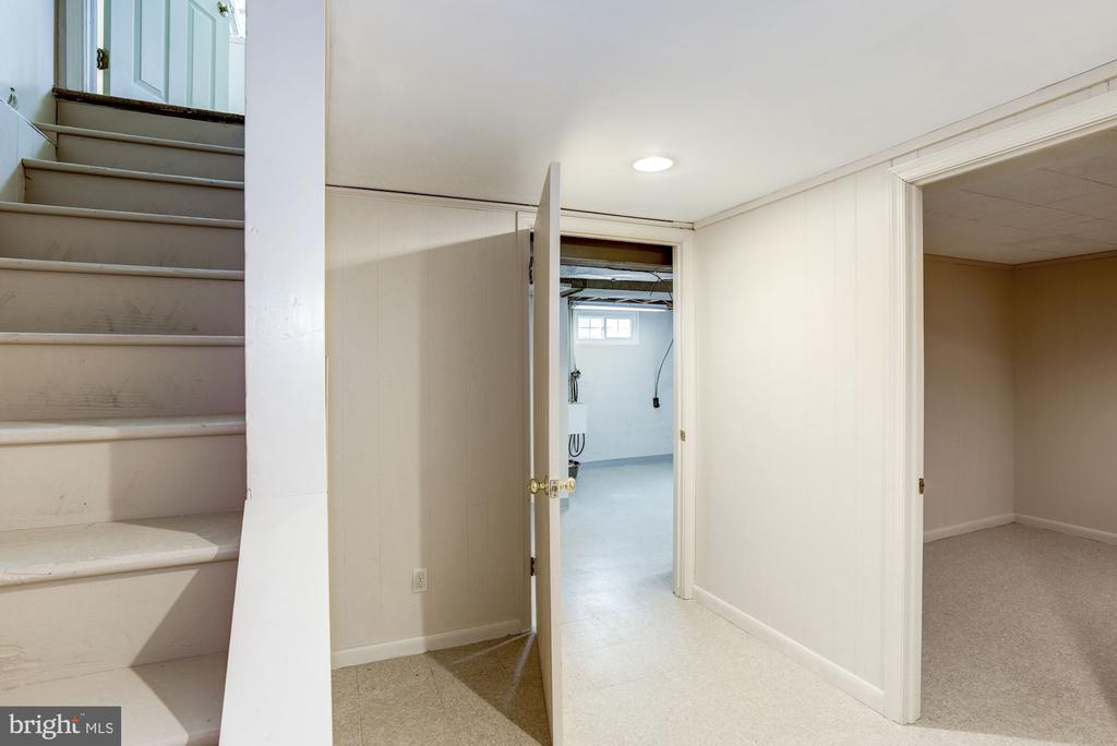 Stairs to LL, doorway to secondary laundry hook up - 4838 1ST ST S, ARLINGTON
