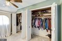 Dual closets in MB dressing room - 4838 1ST ST S, ARLINGTON