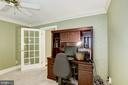 Office/main level bedroom with attached bathroom - 4838 1ST ST S, ARLINGTON