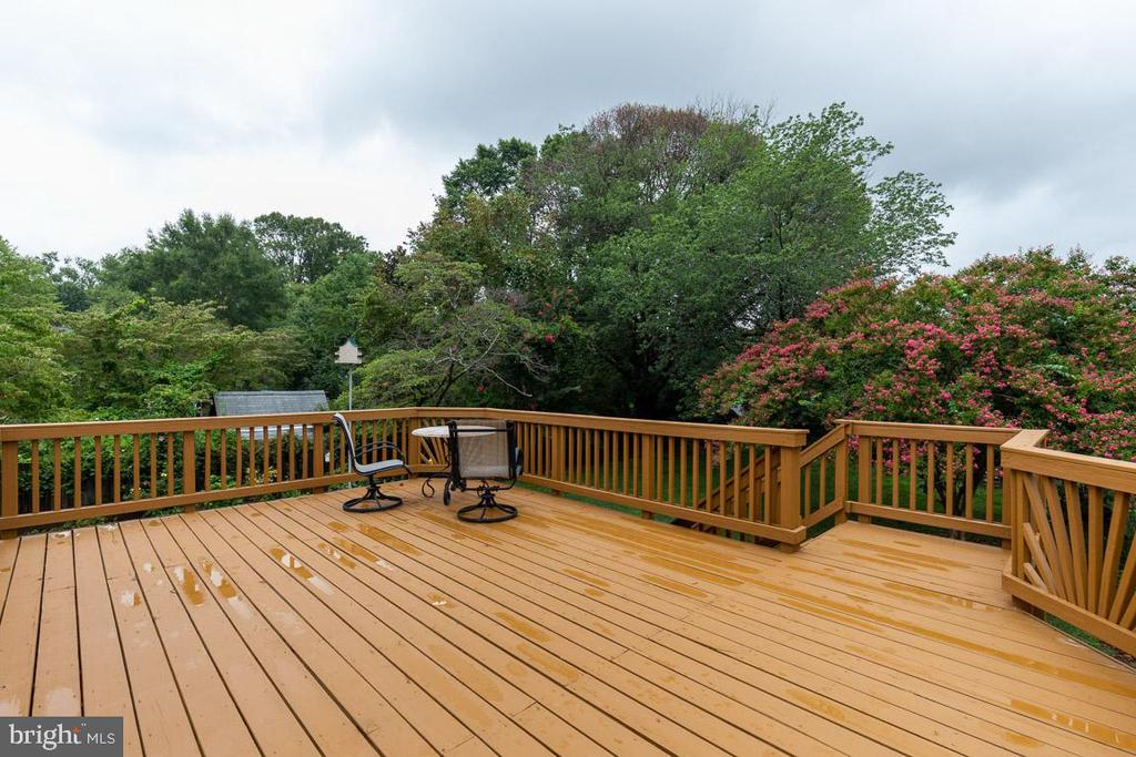 Huge deck with stairs to backyard. - 10506 NORMAN AVE, FAIRFAX
