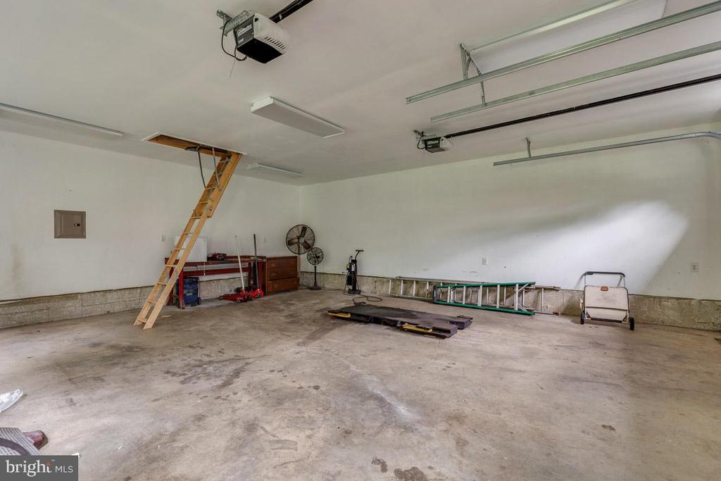 2-car garage parking and attic storage. - 10506 NORMAN AVE, FAIRFAX