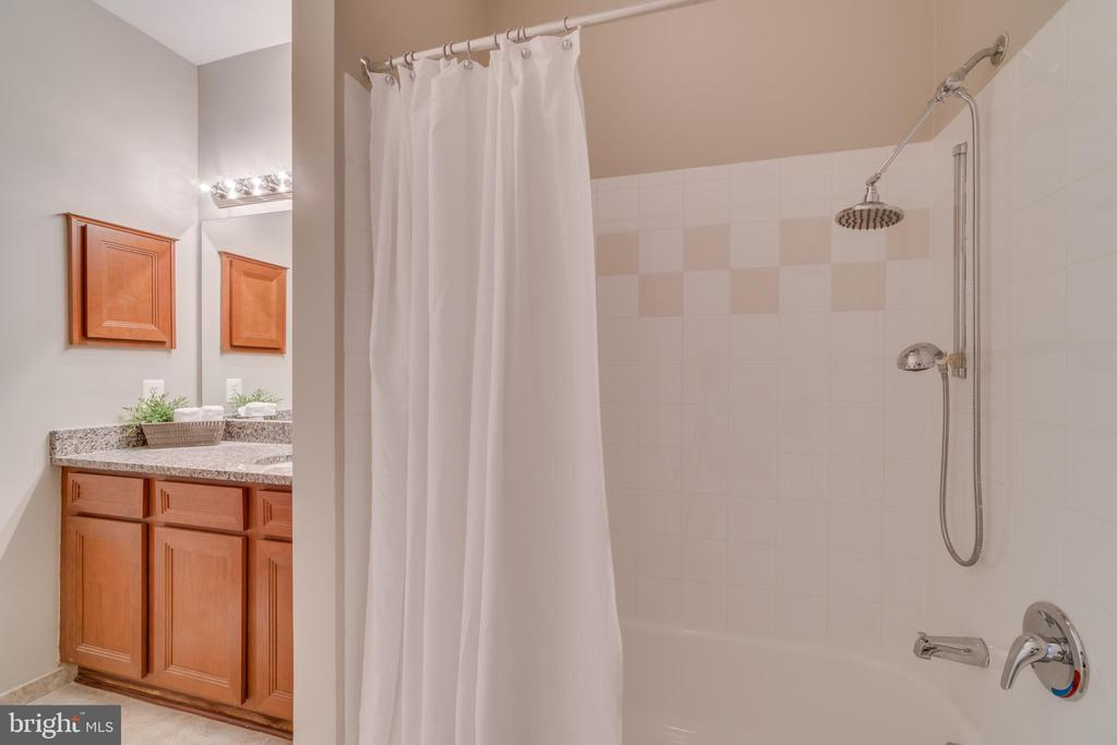 Master Bath Shower - new tile in bath and floor - 12000 MARKET ST #254, RESTON